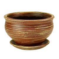 Горшок для цветов керамический с поддоном Кантри фиалочница кор.22см 3-09 (32-209)