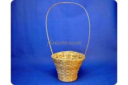 Корзина плетеная 3593 d23 h53см (бамбук)