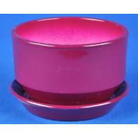 Горшок для цветов керамический с поддоном Дзен КП (10см) сиреневый