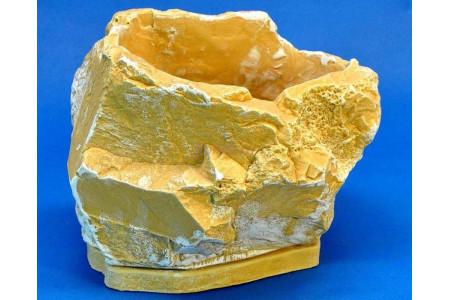 Горшок для цветов керамический с поддоном Эверест 22*16h15см (св/песч) (км07-1)