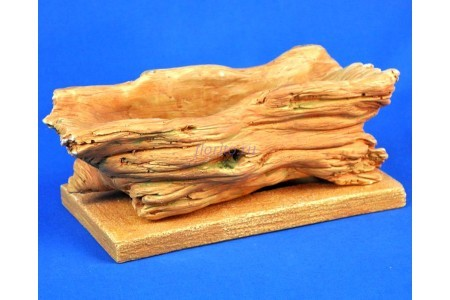 Горшок для цветов керамический с поддоном Коряга 28*13/h11см (св/песч) (км15-1)