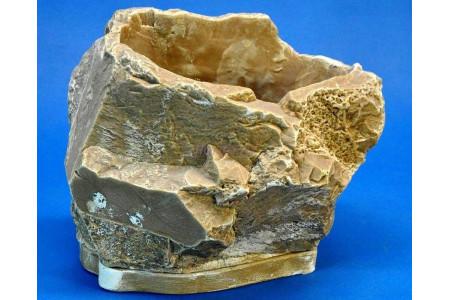 Горшок для цветов керамический с поддоном Эверест 22*16h15см (тем/песч) (км07-2)