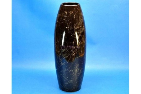 Ваза керамическая для сухоцветов  ОВАЛ малая черная