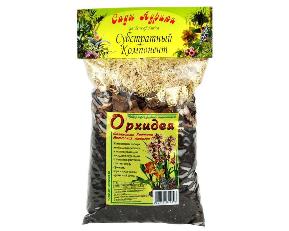 Субстрат Орхидея для орхидей, фаленопсиса, дендробиума, каттлеи, цимбидиума  1л  Сады Аурики