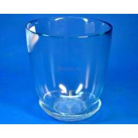 Горшок из стекла цветочный  «№3  прозрачный»