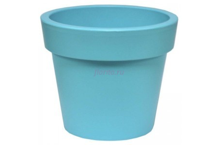 Кашпо пластиковое без поддона и дренажного отверстия Гамма 26х22см (бирюза)