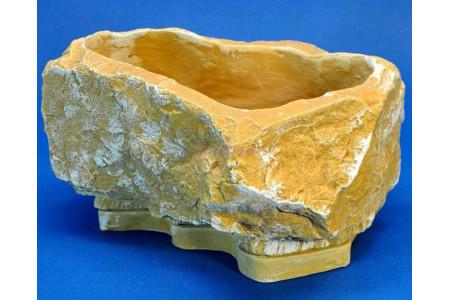 Горшок для цветов керамический с поддоном Памир 24*18h12см (св/песч) (км06-1)