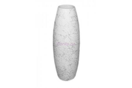 Ваза керамическая для сухоцветов  ОВАЛ  средний белая