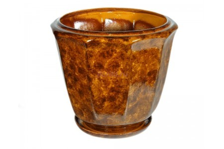 Горшок для цветов керамический с поддоном «Кашпо №4» коричневый 18л