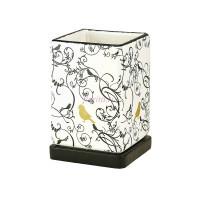 Горшок для цветов керамический с поддоном Птица Золотая кубик высокий d12/h17см (NK40/5)