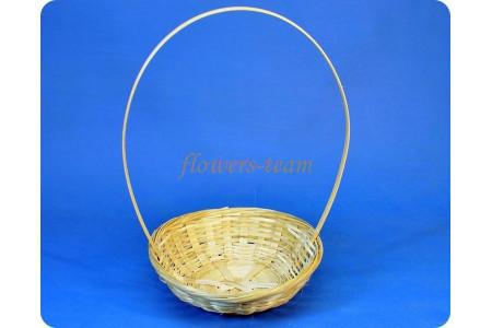 Корзина плетеная 3586 d19см h5см (бамбук)