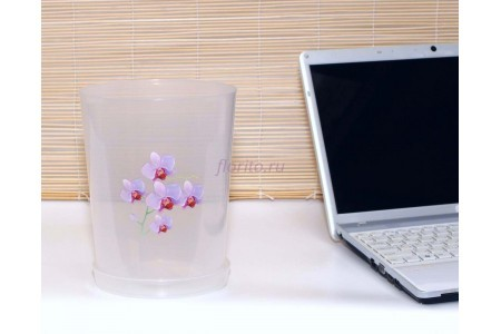 Горшок для цветов пластиковый с поддоном Для Орхидей 3,5л (прозр)-1 с под м1606Ж